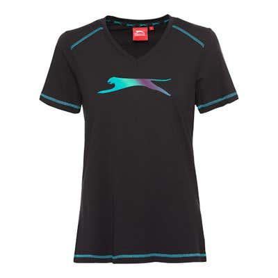 Slazenger Damen-Fitness-T-Shirt mit großem Logo