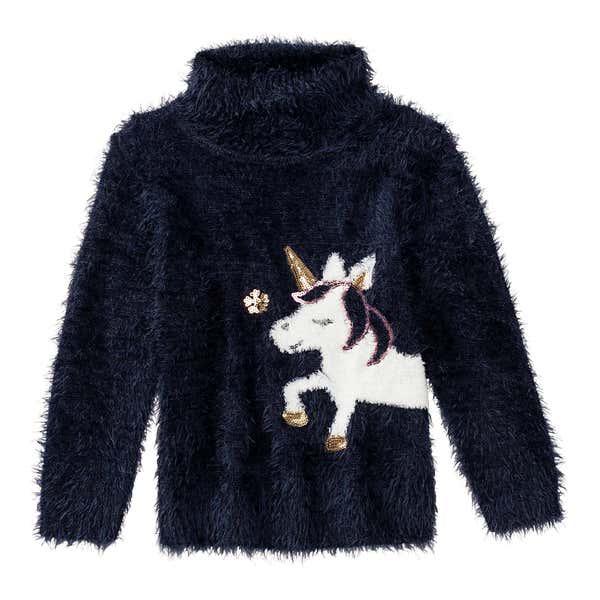 Mädchen-Pullover aus Federgarn