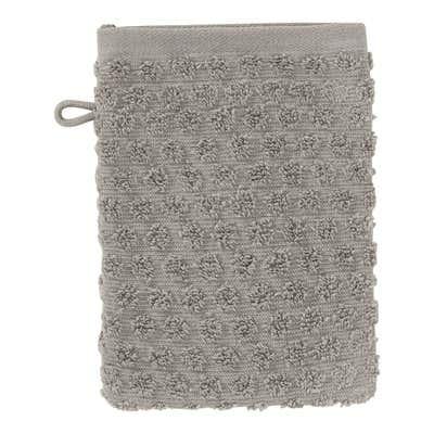 Waschhandschuh mit Struktur-Punkte-Muster, 16x21cm