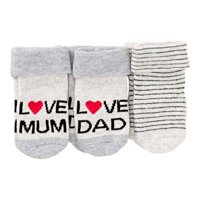 Baby-Socken aus weichem Frottierflausch, 3er Pack