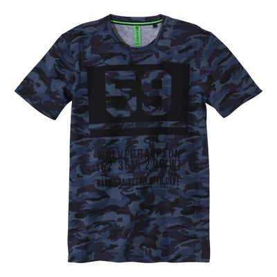 Herren-T-Shirt in angesagter Camouflage-Optik