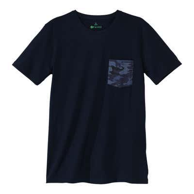Herren-T-Shirt mit Camouflage-Brusttasche