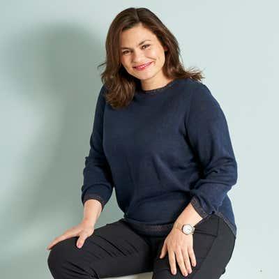 Damen-Pullover mit Glitzer-Effekten, große Größen