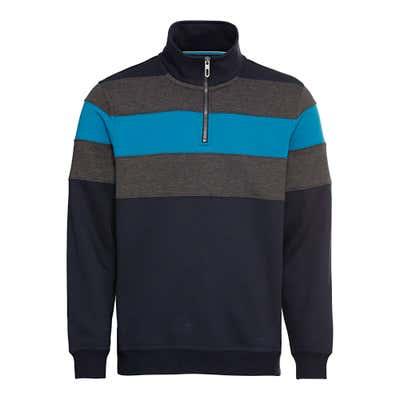 Herren-Sweatshirt mit Farbblock-Design