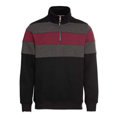 Herren-Sweatshirt mit Blockstreifen