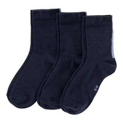 Damen-Socken mit modischem Glitzer-Effekt, 3er Pack