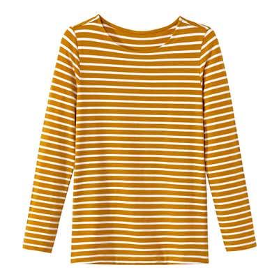 Damen-Shirt mit schmalem Streifenmuster