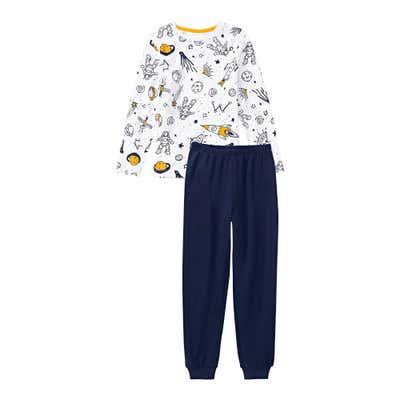 Jungen-Schlafanzug mit Weltraum-Muster, 2-teilig