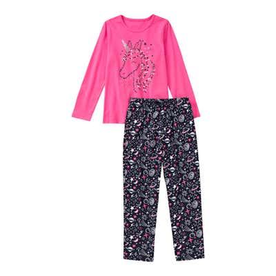 Mädchen-Schlafanzug mit Planeten-Muster, 2-teilig