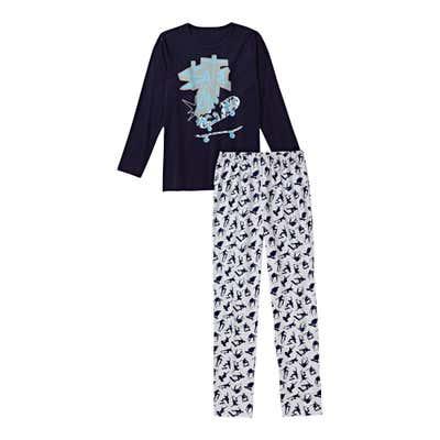 Jungen-Schlafanzug mit Skater-Muster, 2-teilig