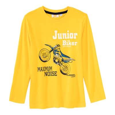 Jungen-Shirt mit Motorrad-Frontaufdruck