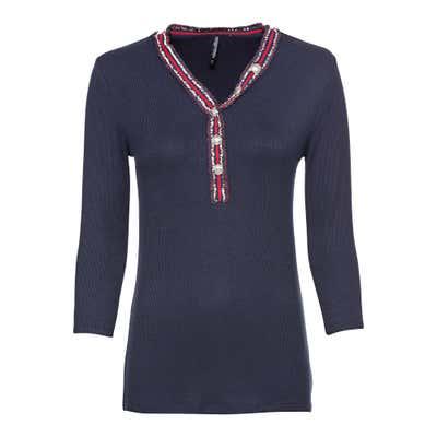 Damen-Shirt mit schicker Knopfleiste