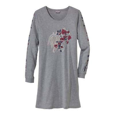 Damen-Nachthemd mit platziertem Druck