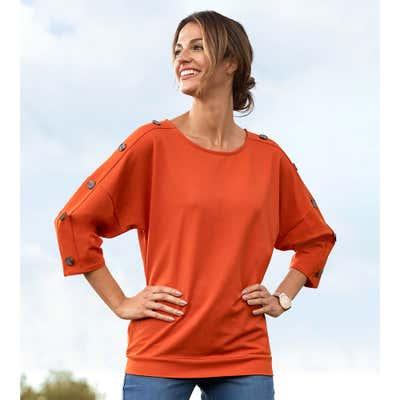 Damen-Shirt mit beeindruckenden Fledermausärmeln