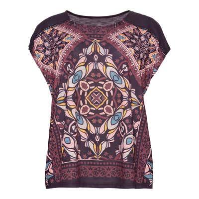 Damen-T-Shirt mit Ornament-Design, große Größen