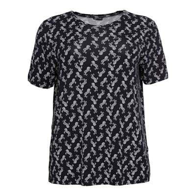 Damen-T-Shirt mit Zebra-Muster, große Größen