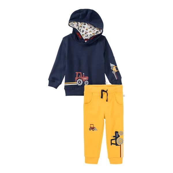 Baby-Jungen-Set mit Kapuzen-Sweatshirt, 2-teilig