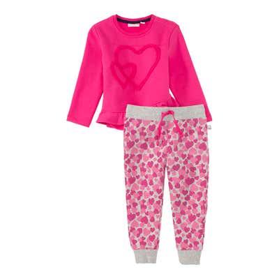 Baby-Mädchen-Set mit Herz-Applikation, 2-teilig