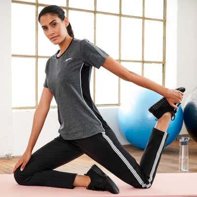 Damen-Wellnesshose mit sportlichem Seitenstreifen