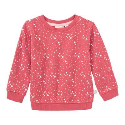 Baby-Mädchen-Sweatshirt mit Herzchen-Muster