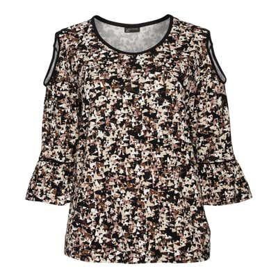 Damen-Shirt mit offener Schulter, große Größen