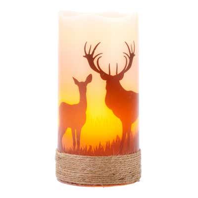 LED-Kerze im Landhausstil, ca. 8x15cm