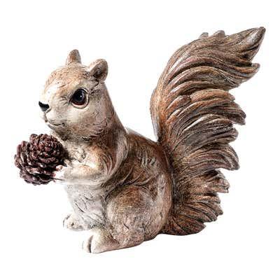 Deko-Echhörnchen in detailreicher Gestaltung, ca. 10x5x8cm