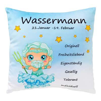 Deko-Kissen mit Sternzeichen-Design, ca. 35x35cm