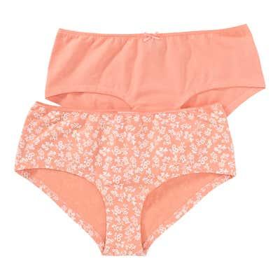Damen-Panty mit Blumenmuster, 2er Pack