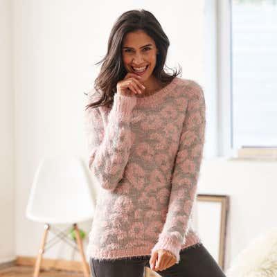 Damen-Pullover im fabelhaften Leo-Design