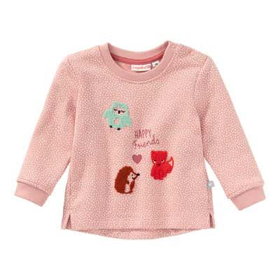 Baby-Mädchen-Sweatshirt mit Tier-Applikation