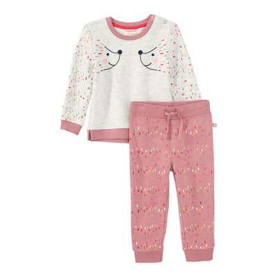 Baby-Mädchen-Set mit Tupfen-Muster, 2-teilig