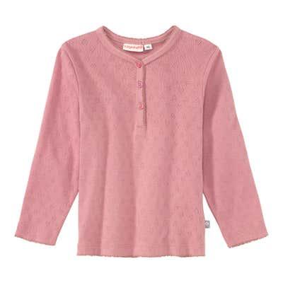 Baby-Mädchen-Shirt mit Ajour-Muster