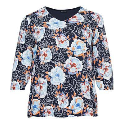 Damen-Bluse mit Blumendesign, große Größen