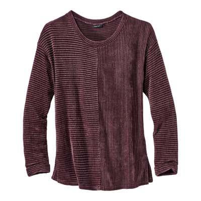 Damen-Chenille-Sweatshirt in toller Optik