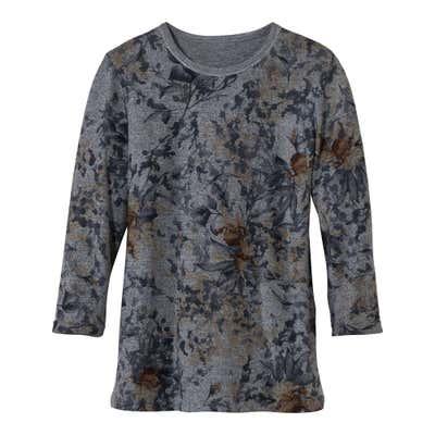 Damen-Pullover mit glitzerndem Silbergarn