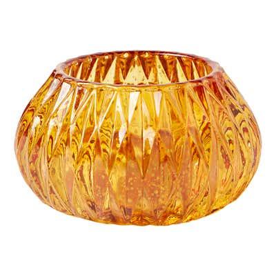 Teelichthalter aus Glas, ca. 10x7cm