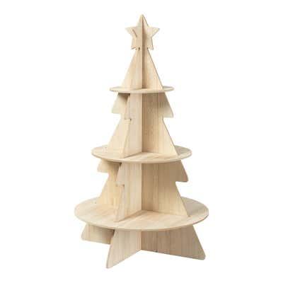 Deko-Weihnachtsbaum aus Holz, ca. 36x36x60cm