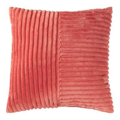 Dekokissen mit kuscheligen Flanell-Streifen, ca. 50x50cm