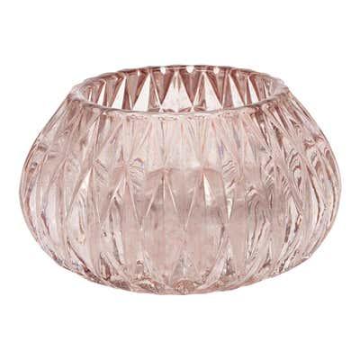 Teelichthalter aus Glas, Ø ca. 10x7cm