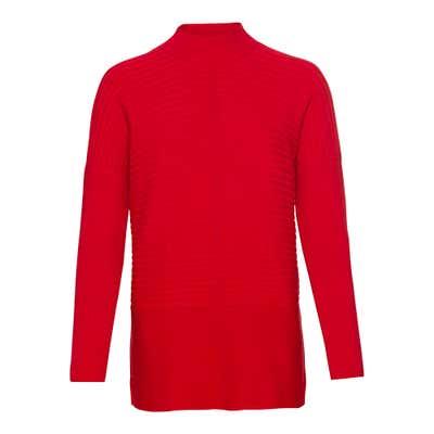 Damen-Pullover mit Ripp-Struktur