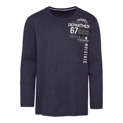 Herren-Shirt in Melange-Optik, große Größen