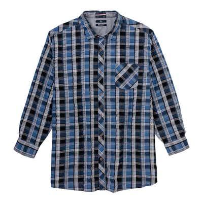 Herren-Seersucker-Hemd, große Größen