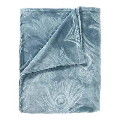 XXL-Wohndecke mit geprägtem Muster, ca. 200x250cm