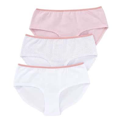 Damen-Panty mit Kontrast-Bund, 3er Pack