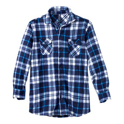 Herren-Fleecehemd mit aufgesetzten Brust-Pattentaschen