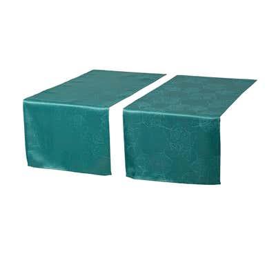 Tischläufer mit Jacquard-Muster, 40x160cm, 2er Pack