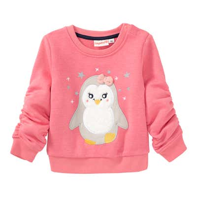 Baby-Mädchen-Sweatshirt mit Pinguin-Motiv