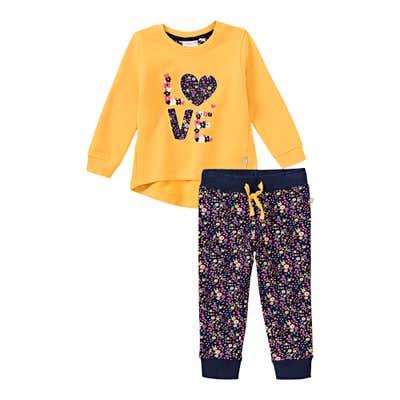 Baby-Mädchen-Set mit Blümchen-Muster, 2-teilig