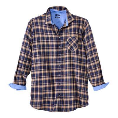 Herren-Flanellhemd mit angesagtem Karomuster, große Größen